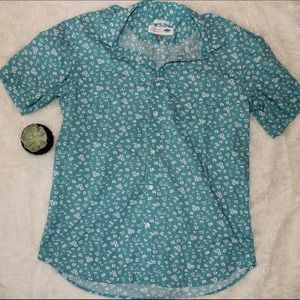 Old Navy Blue Floral Button Up